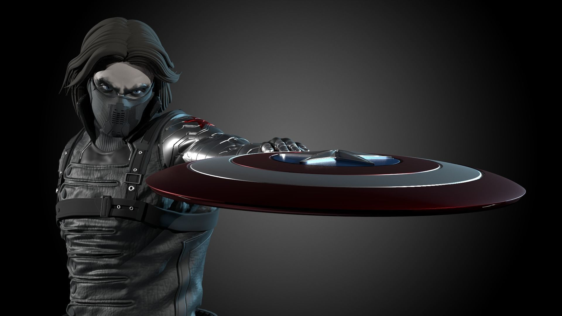 Winter Soldier Statue 3d Print Ready