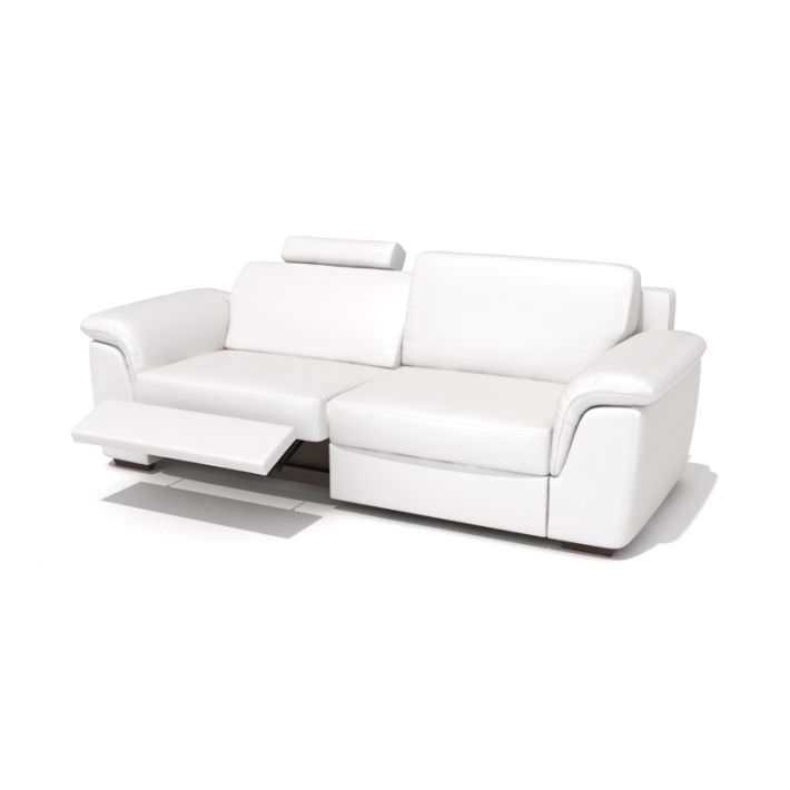 Modern Reclining Leather Sofa 3d Model