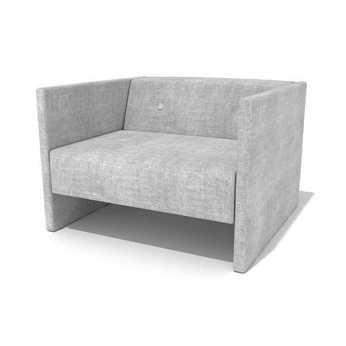 Grey Modern Armchair 3D Model