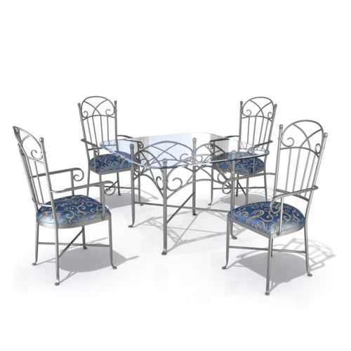 Furniture Set   Table And Chairs3D model