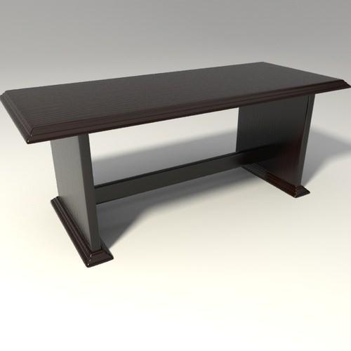 Trestle table3D model