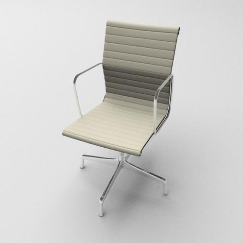 Aluminium armchair3D model