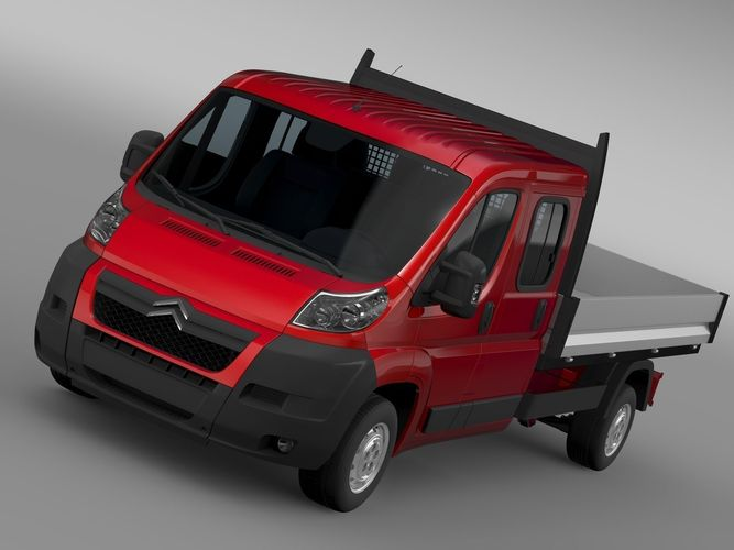 citroen jumper crew cab truck 2009 2014 3d model. Black Bedroom Furniture Sets. Home Design Ideas