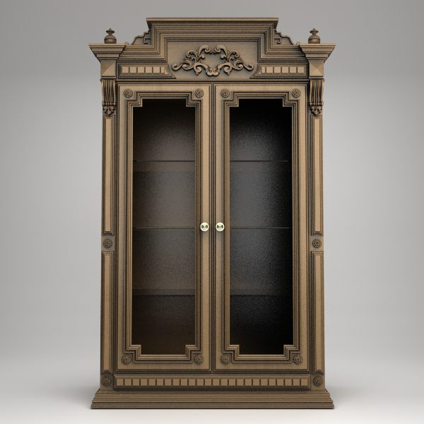 antique display cabinet 3d model max obj 3ds mtl 1 ... - Antique Display Cabinet 3D CGTrader