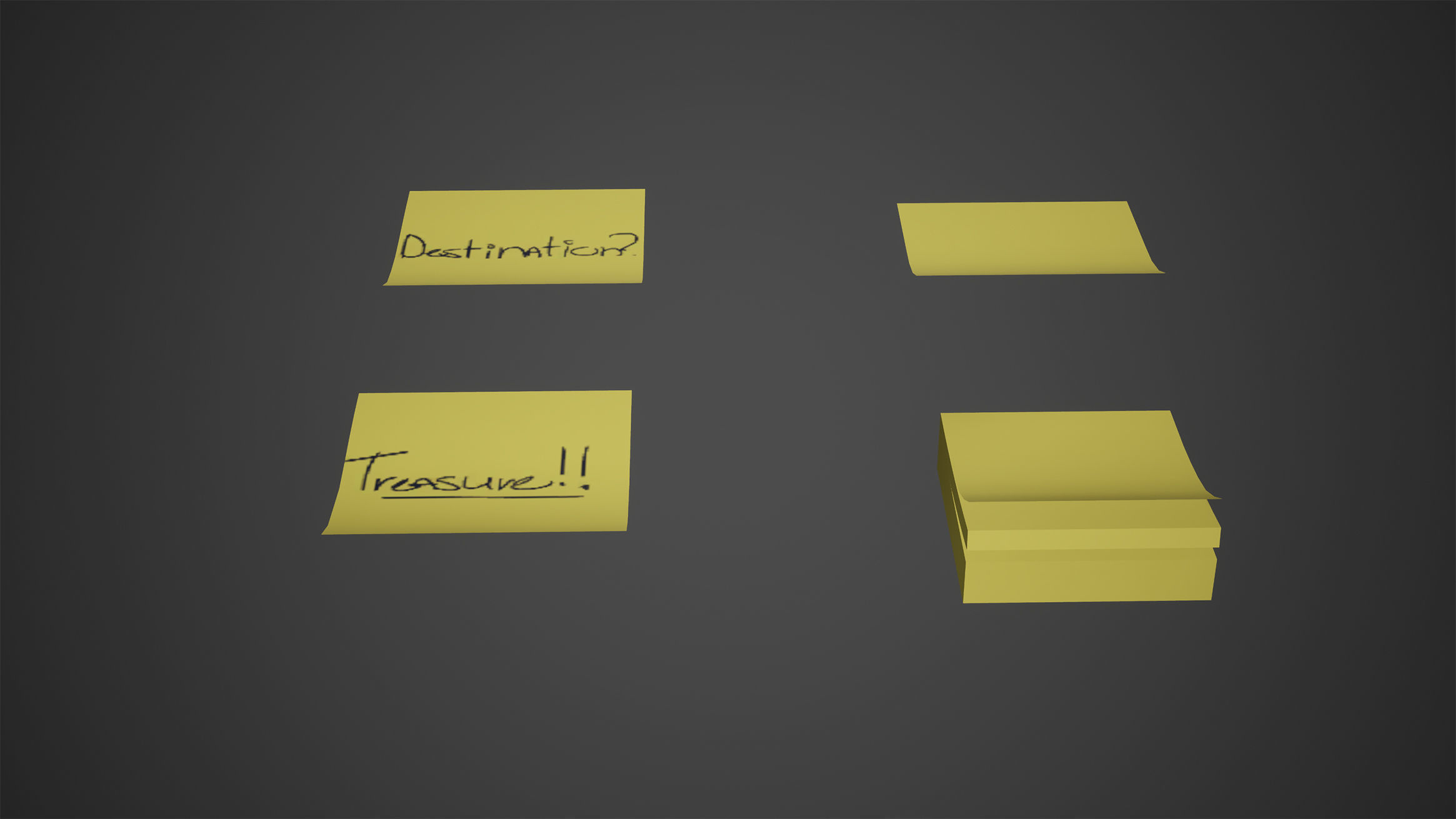 Sticky Notes Low Poly Game Ready