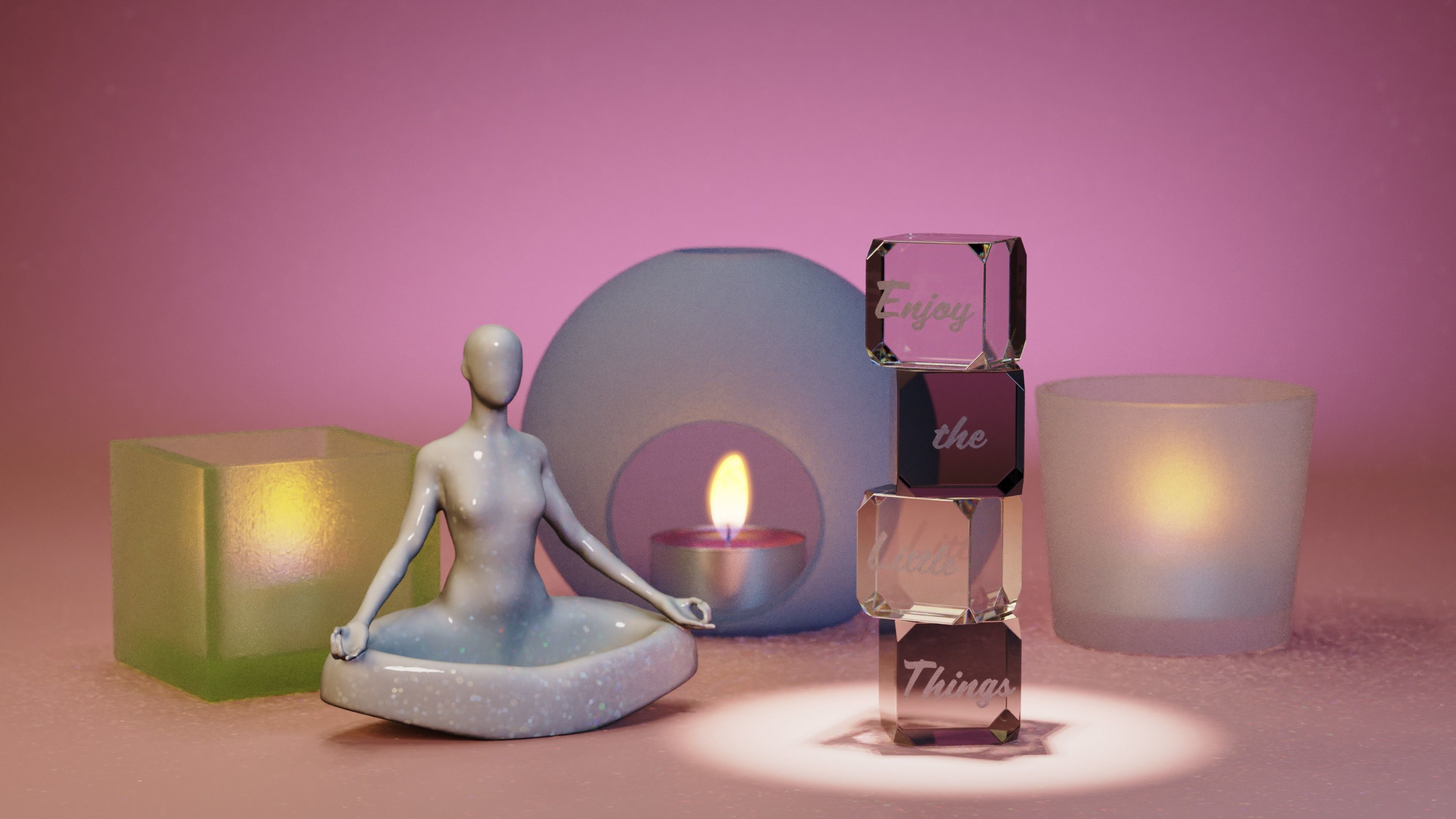 YOGA WOMAN POT - STL FOR 3D PRINTING