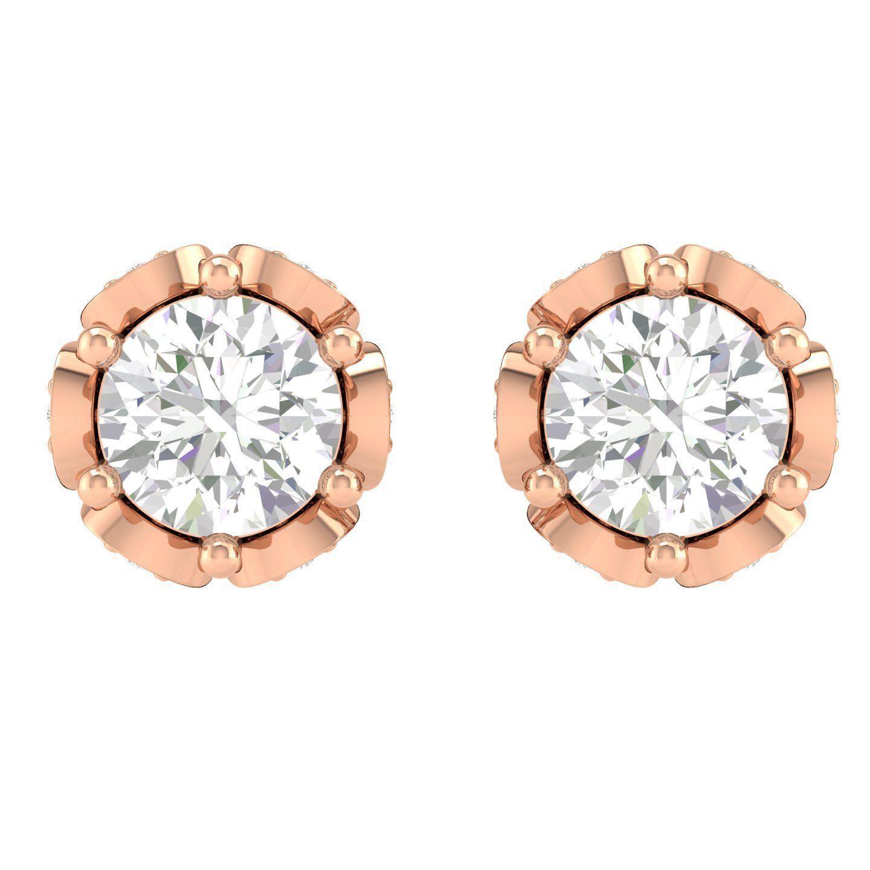 Women Round Earrings 3dm stl render detail