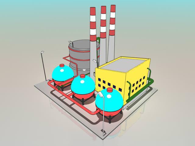 Simple Cartoon Factory 3D Model .max - CGTrader.com