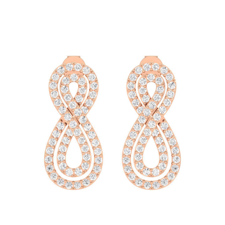 Women Earrings 3dm stl render detail