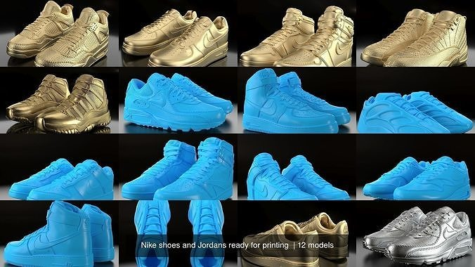 Nike shoes and Jordans ready for printing