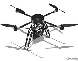 Quadcopter Generic with camera 3D Model