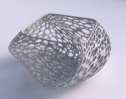 3D printable model Bowl helix with fine organic lattice