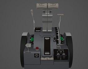 B737-800 Throttle Quadrant 3D model