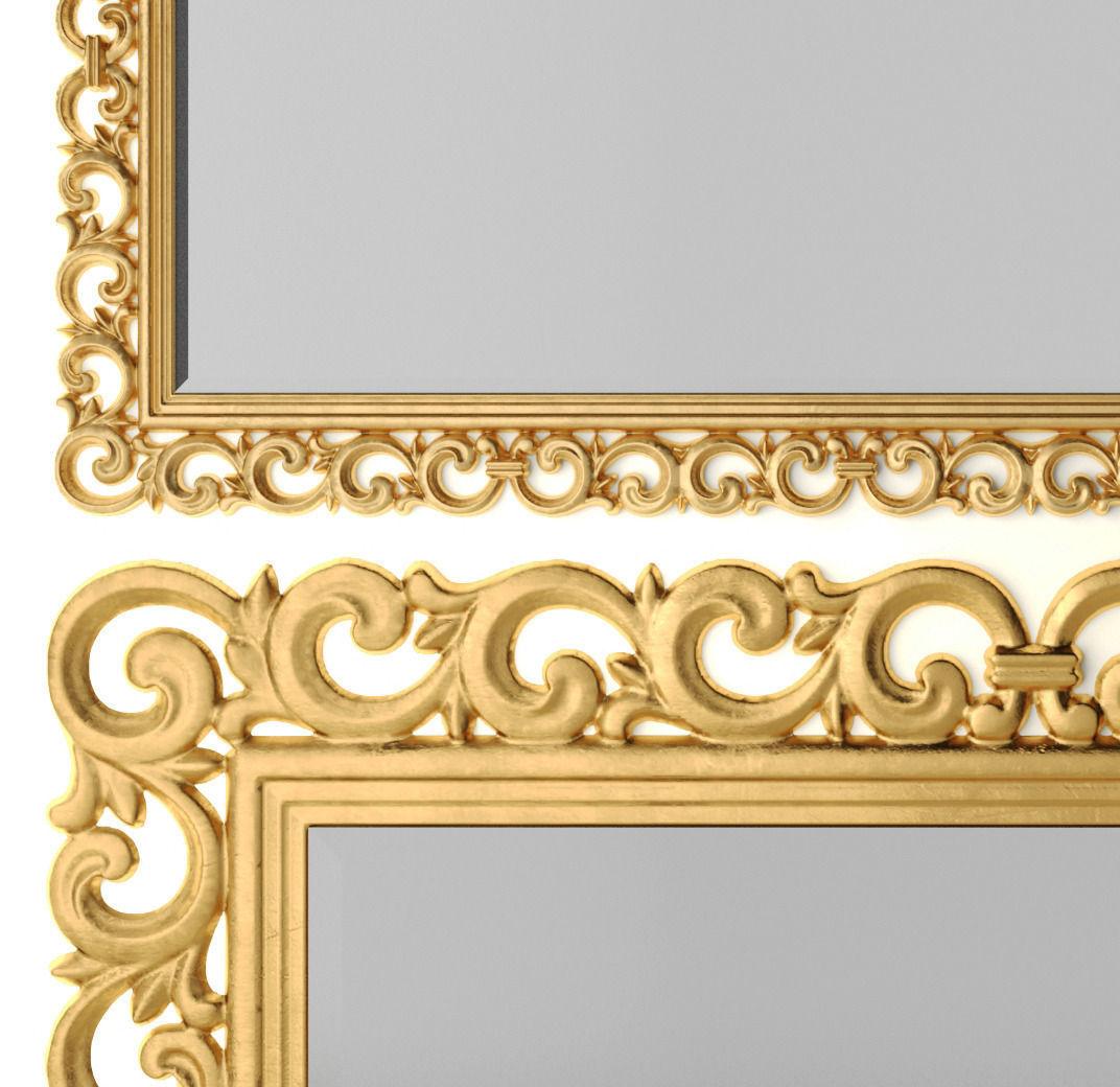 Classic mirror 3d 4 3d model max obj fbx for Classic mirror