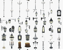 3D asset lights collection
