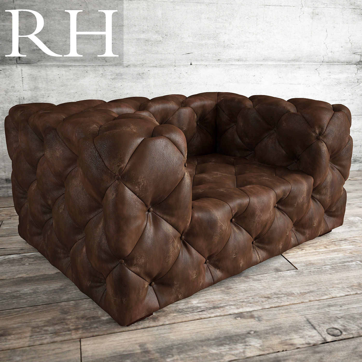 Soho Tufted Leather Chair Model
