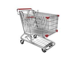shopping trolley 3d model fbx ma mb