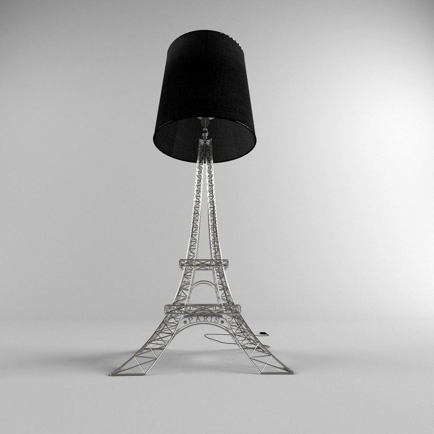 ... Eiffel Tower Lamp 3d Model Max Fbx 3 ...