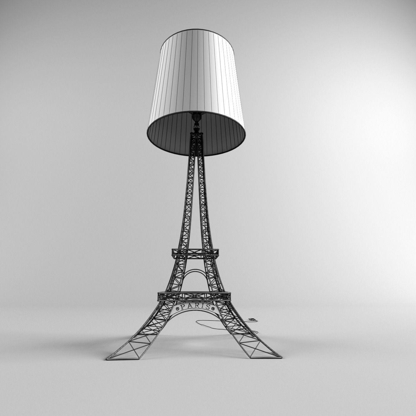 ... Eiffel Tower Lamp 3d Model Max Fbx 5