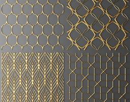 set panel lattice grille 3d 50
