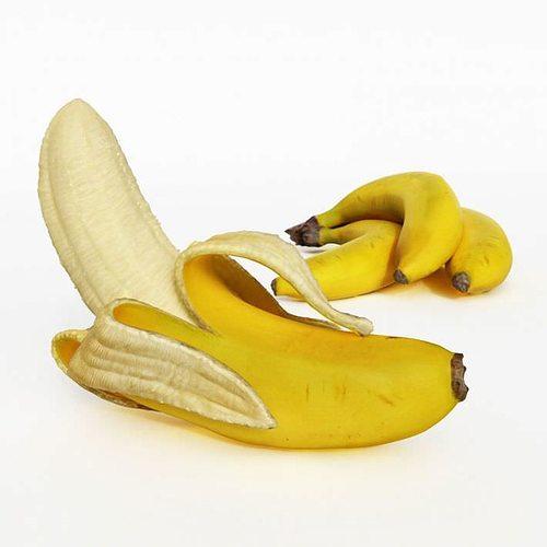 peeled banana 3d model obj 1