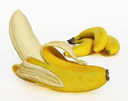 Peeled Banana 3D Model