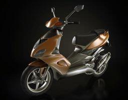 Brown Motorcycle 3D Model