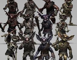 3DRT - undeand goblins modular kit 3D Model