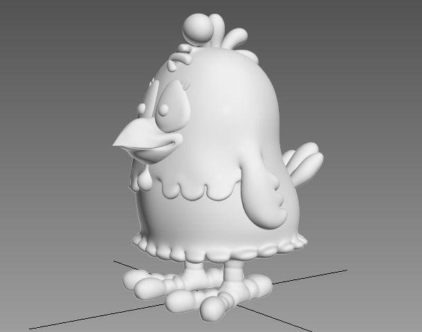 Cartoon Chicken 3d Model 3d Printable Stl Cgtrader Com