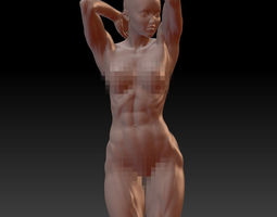 Sexy Muscular Woman Zbrush HD 3D Model