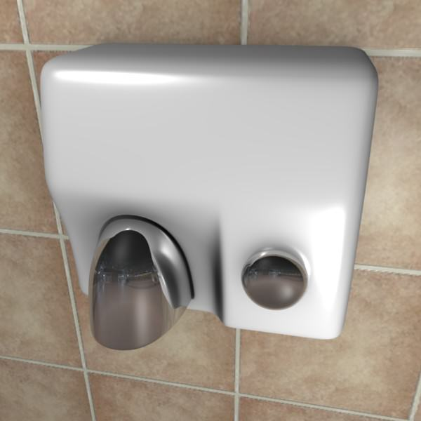 Genial Hand Dryer 3d Model Obj Fbx Blend 1 ...