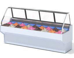 Glass Dispay Case Of Ice Cream 3D model