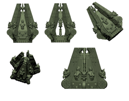 3d print model demons of lust space warriors custom drop pod