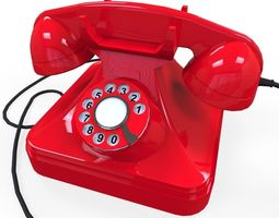 3D asset realtime Rotary Phone