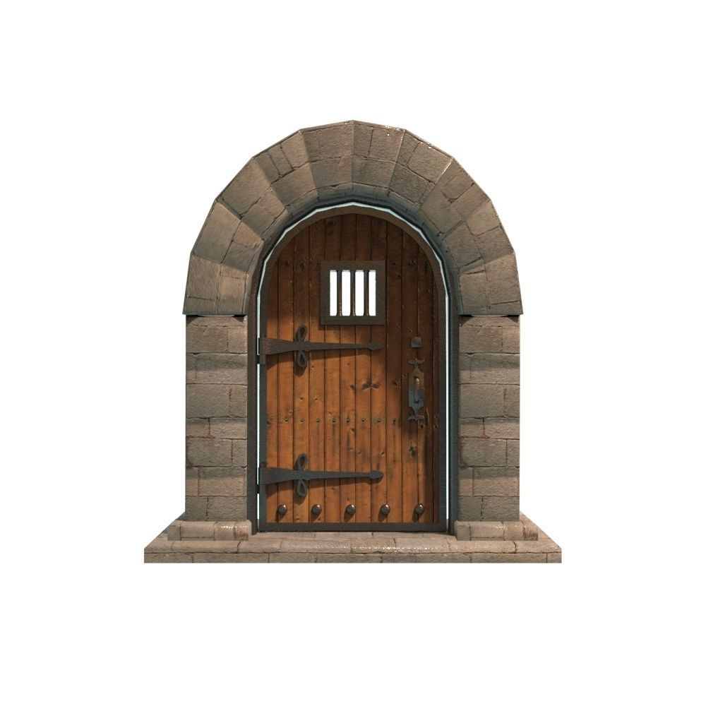 medieval door 3d model fbx ma mb 1 ...  sc 1 st  CGTrader & 3D model VR / AR ready medieval door | CGTrader