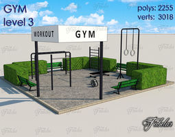 3D asset Gym Level