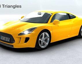 3D asset Generic Sports Car Realtime