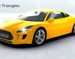 Generic Sports Car Realtime 3D Model