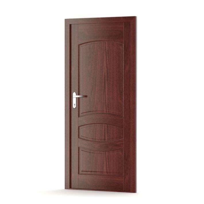 Dark wooden door 3d model for Door 3d model