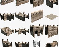 Modular Courtyard 3D Model