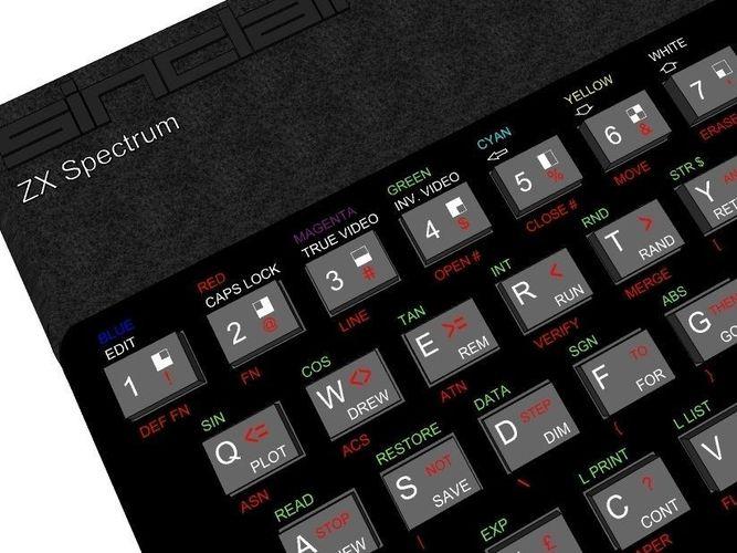 zx spectrum 48k 3d model 3ds 1