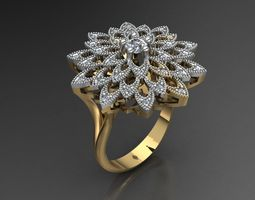 MGold011r Ring 3D Model