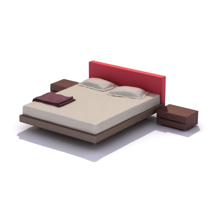 New Model Beds : ... bed 3d model highly detailed model of bed with all textures shaders
