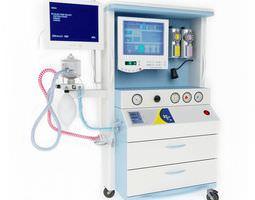 Hospital Equipment With Monitors 3D model