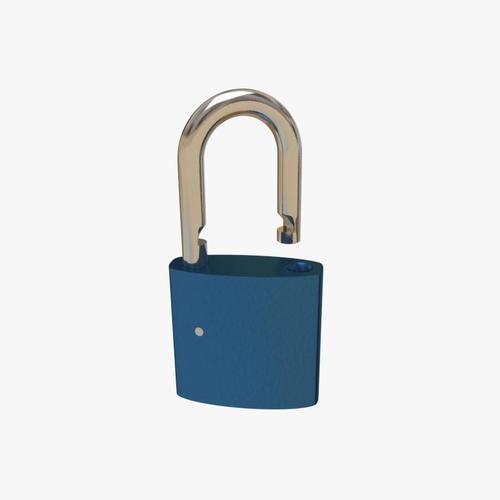padlock 3d model obj mtl 3ds fbx blend dae 1