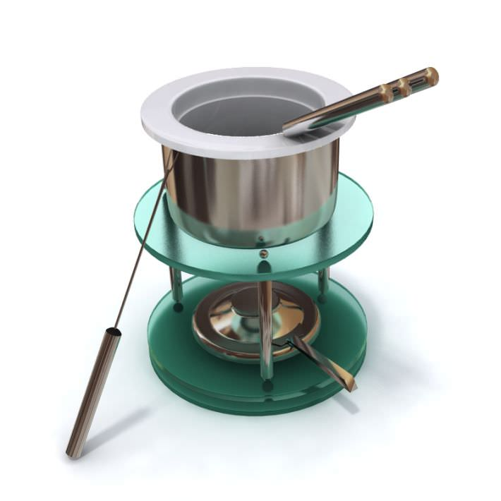 Pot   Fondue Skewers Stand