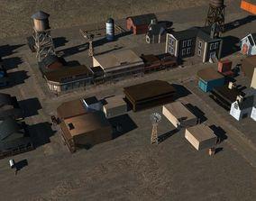 3D Old West Town