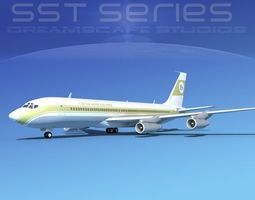 Boeing 707-320 SS Libyan Airways 3D model