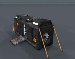 3d asset sci fi objects series - 002  realtime