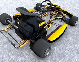 racing go kart gokart 3d model